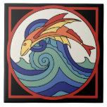 Vintage Catalina Island Flying Fish Tile