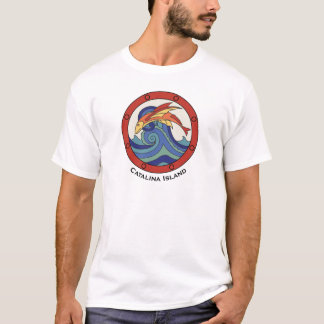 Vintage Catalina Island Flying Fish Tile Shirt