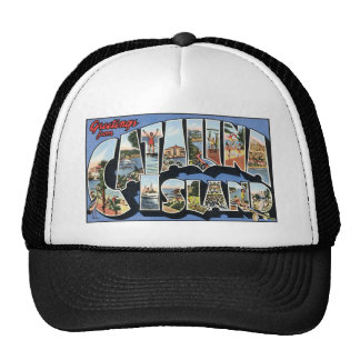 Vintage Catalina Island Postcard Trucker Hat