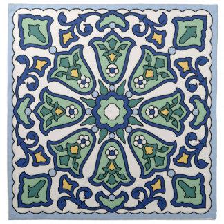 Vintage Catalina Island Tile Design Dinner Napkins