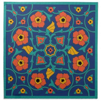 Vintage Catalina Island Tile Design Napkins - Set