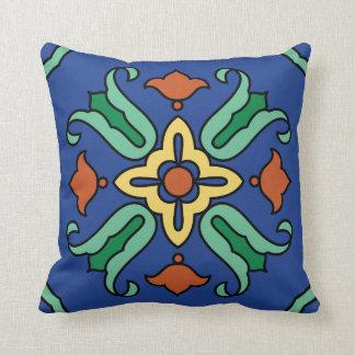 Vintage Catalina Island Tile Design Pillow