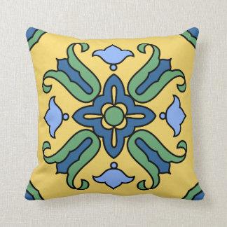 Vintage Catalina Island Tile Design Throw Pillow