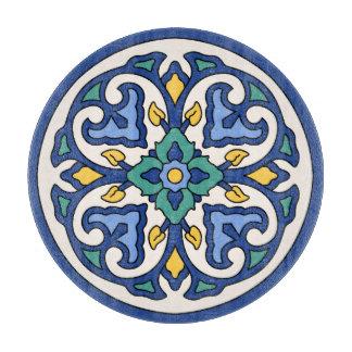 Vintage Catalina Island Tile - Glass Cutting Board