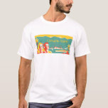 Vintage Catalina Island Travel Poster T-Shirt