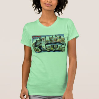 Vintage Catalina Luggage Label print Tee Shirts