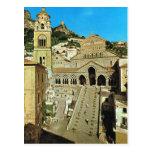 Vintage catedral de Italia, Amalfi Tarjeta Postal