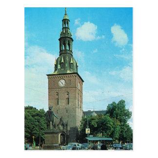 Vintage catedral de Noruega, Oslo Postales