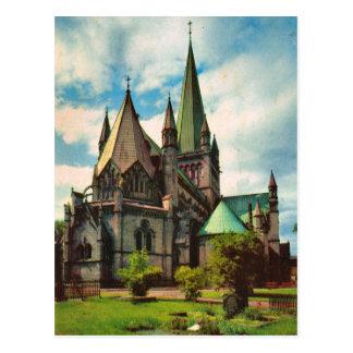 Vintage catedral de Noruega, Strondheim Postal