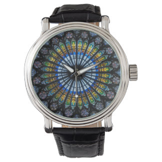 Vintage Cathedral Stained Glass Window Wristwatches
