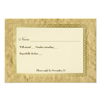 Vintage Catholic Cross rsvp Personalized Announcements