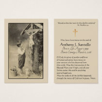 Vintage Catholic Funeral Prayer Holy Card