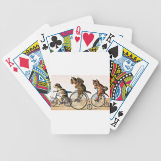 Vintage Cats and Dog on a Bike Bicycle Playing Cards