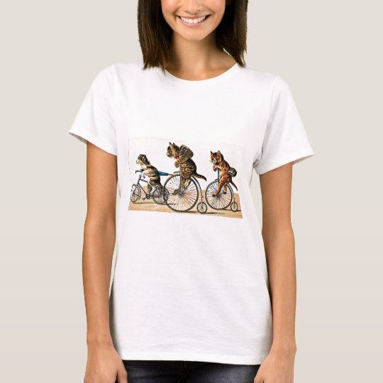 Vintage Cats and Dog on a Bike T-Shirt