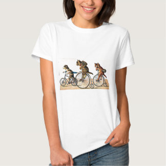 Vintage Cats and Dog on a Bike Tee Shirt