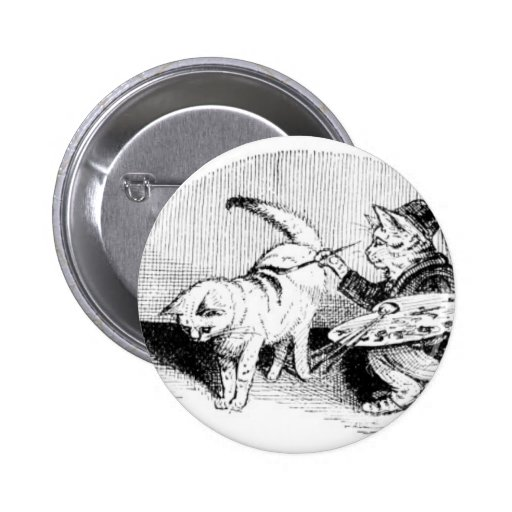 Vintage Cats Buttons