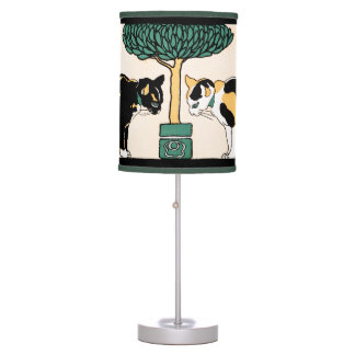 Vintage Cats by Edward Penfield Table Lamp
