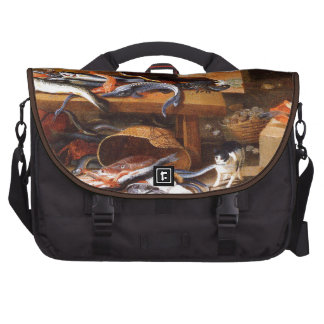 Vintage Cats eating Crustaceans Bag For Laptop