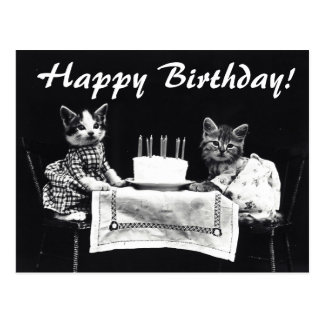 Vintage Happy Birthday Cat Www Pixshark Com Images