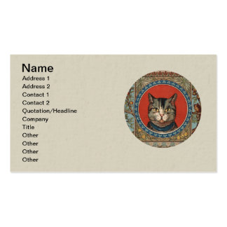 Vintage Cat's Life for Kitty Lovers Business Card Templates