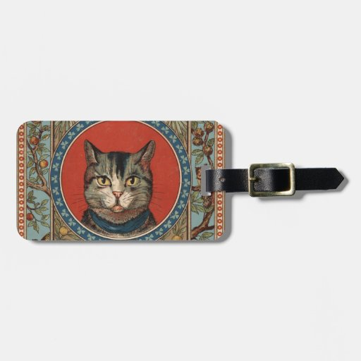 Vintage Cat's Life for Kitty Lovers Travel Bag Tags