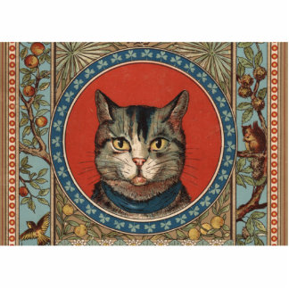 Vintage Cat's Life for Kitty Lovers Photo Cut Outs