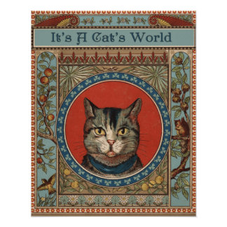 Vintage Cat's Life for Kitty Lovers Poster