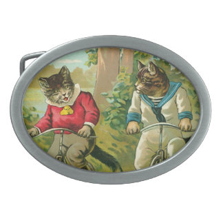 Vintage Cats on Bicycle Belt Buckle