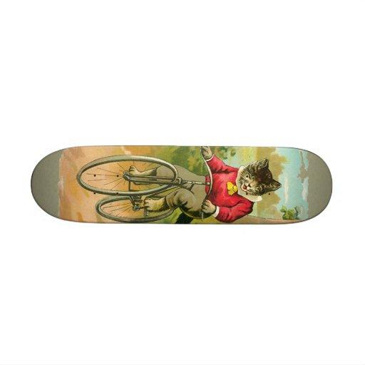 Vintage Cats on Bicycle Skate Board Decks