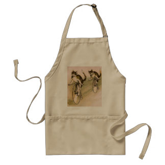 Vintage Cats on Bikes Aprons