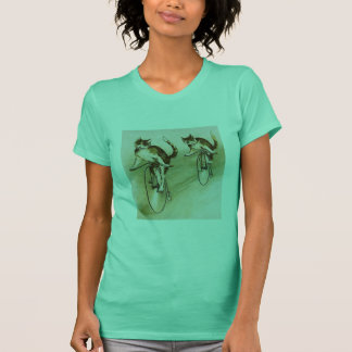 Vintage Cats on Bikes T-Shirt
