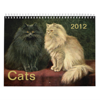 Vintage Cats Persian Siamese Tabby Tom Cats 2012 Calendar