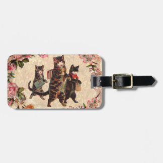 Vintage Cats Pretty Antique Kitty Bag Tag
