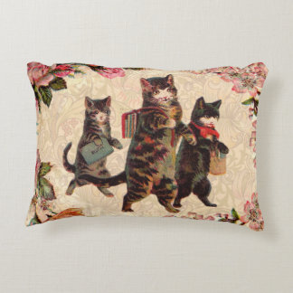 Vintage Cats Pretty Antique Kitty Decorative Pillow