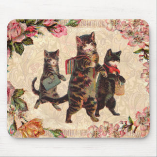 Vintage Cats Pretty Antique Kitty Mouse Pad