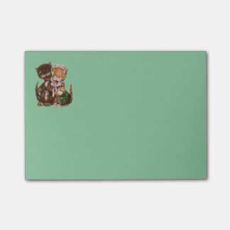Vintage Cats Rat Gift Basket Post-it Notes
