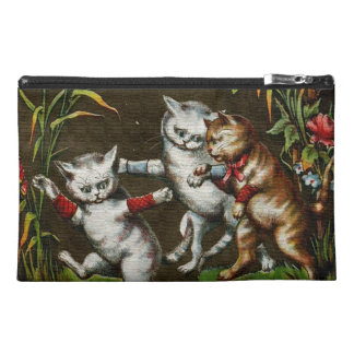 Vintage Cats: Three good friends Travel Accessory Bag