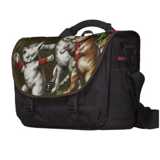 Vintage Cats: Three good friends Bags For Laptop