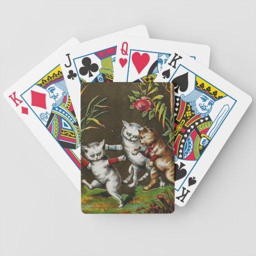 Vintage Cats: Three good friends Card Decks