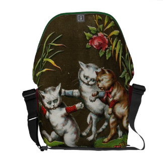 Vintage Cats: Three good friends Courier Bags