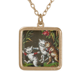 Vintage Cats: Three good friends Necklaces