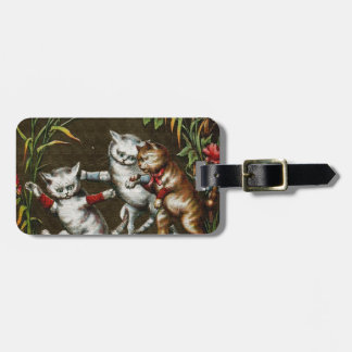 Vintage Cats: Three good friends Tags For Luggage
