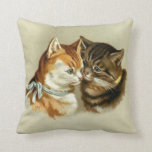 Vintage Cats Throw Pillow