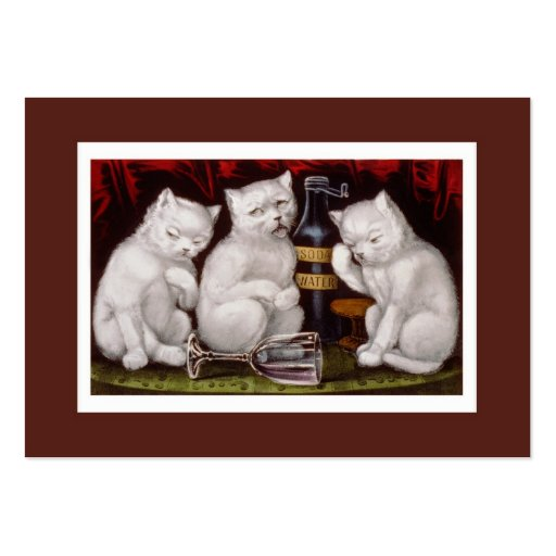 Vintage Cats Veterinarian Business Card