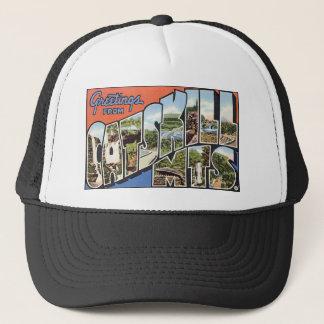 Vintage Catskill Mountains Postcard Trucker Hat