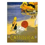 Vintage Cattolica Italian Travel Art Postcard