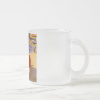 Vintage Cattolica Travel Poster Frosted Glass Coffee Mug