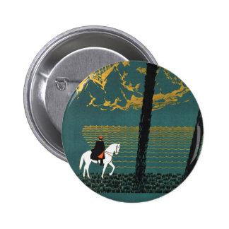 Vintage Caucasus Mountains 2 Inch Round Button