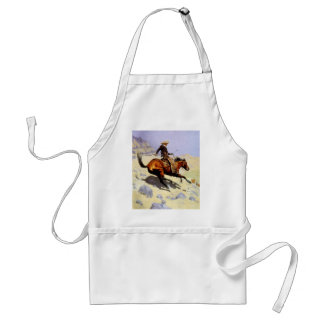 Vintage Cavalry Military, The Cowboy by Remington Adult Apron
