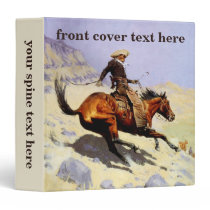 Vintage Cavalry Military, The Cowboy by Remington Binder